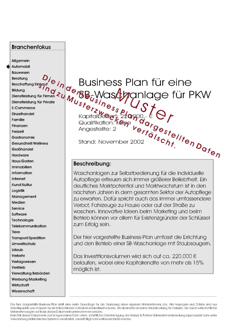businessplan vermietung