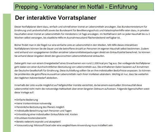 Prepping - der Vorratsplaner im Notfall - Sofort-Download